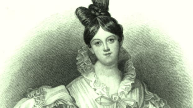 A pencil sketch of Letitia Elizabeth Landon, drawn sometime between 1831 and 1835.