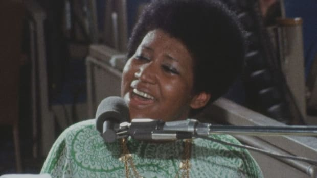 Aretha Franklin in Sydney Pollack's Amazing Grace.