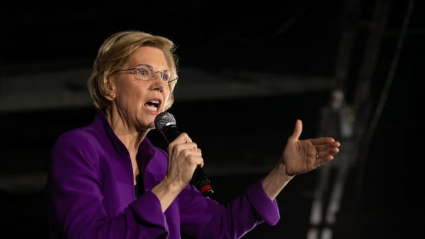Senator Elizabeth Warren speaks during an organizing event at the Arc in the borough of Queens in New York City on March 8th, 2019.