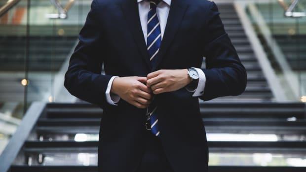 Businessman corporate wage gap
