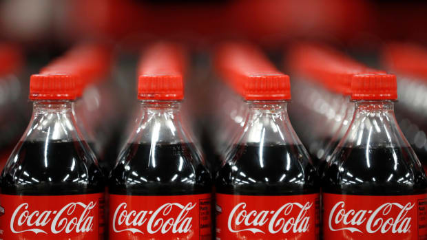 Bottles of Coca-Cola wait to be shipped out at a bottling plant in Salt Lake City, Utah.