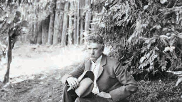 Ambrose Bierce Seated Under Tree