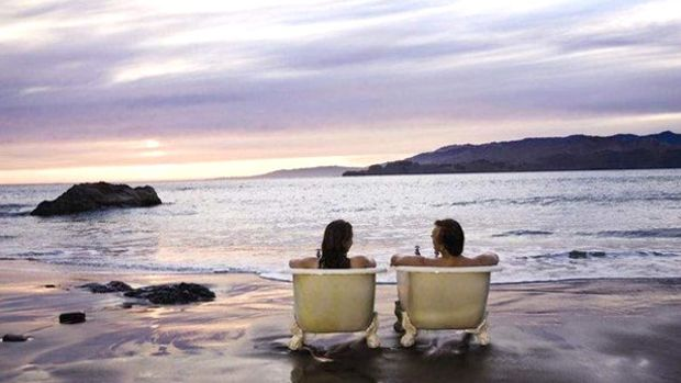 Bathtub Couple from the Cialis Ad