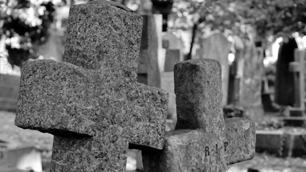 tombstones-bw