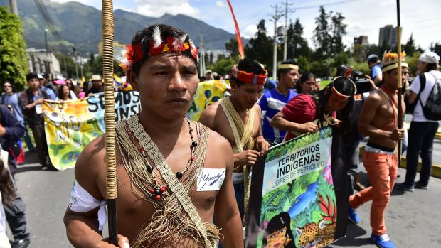 yasuni amazon ecuador protest climate