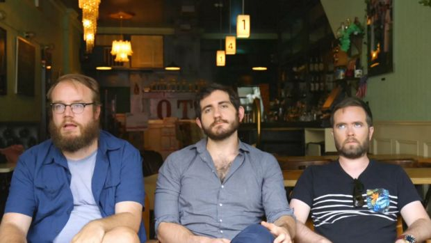 Left to right: Matt Christman, Felix Biederman and Will Menaker of Chapo Trap House.