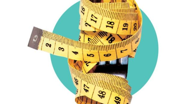 Illustration of a measuring tape wrapped around a fork