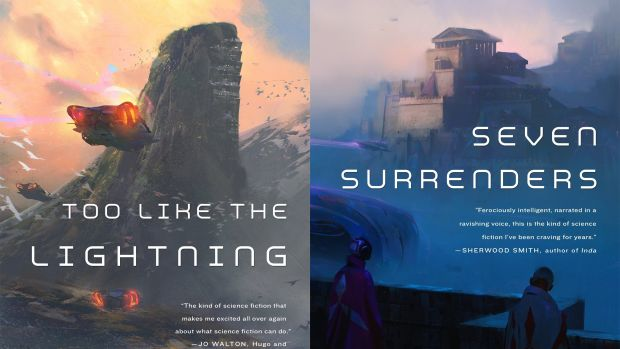 The first and second books in Ada Palmer's Terra Ignota series.