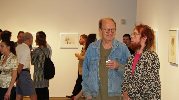 A gallery show opening in New York City.