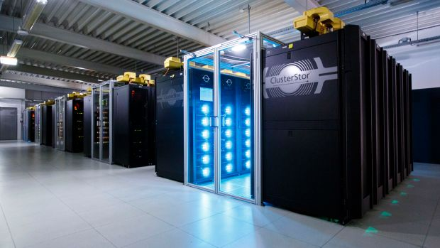 The German Climate Computing Center in Hamburg, Germany, uses a Mistral supercomputer to harness vast amounts of data for analyzing climate change and creating simulations for future climate activity on June 7th, 2017.