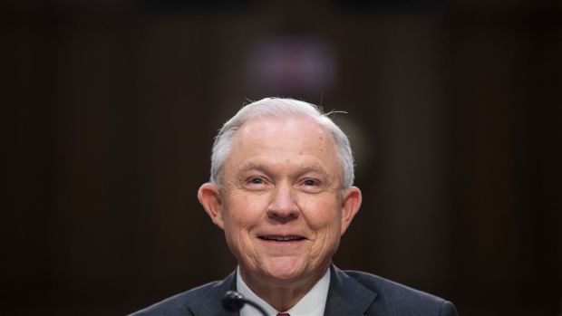 Attorney General Jeff Sessions testifies before the Senate Intelligence Committee on June 13th, 2017.