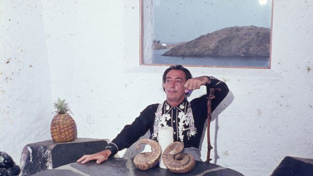 Artist Salvador Dali, pictured here in 1963.