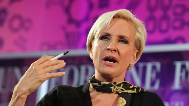 Mika Brzezinski, a recent target of President Donald Trump's personal Twitter feed, speaks onstage at the Fortune Most Powerful Women Summit on October 16th, 2013, in Washington, D.C.