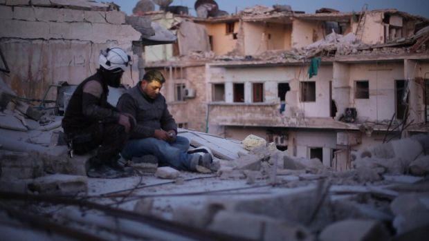 A scene from Last Men in Aleppo.