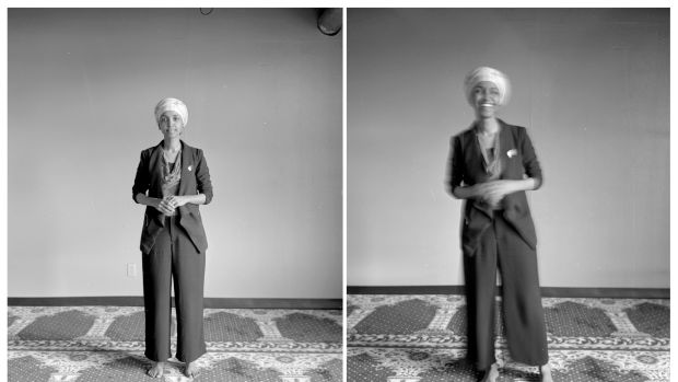 Ilhan Omar, state representative, photographed at her office in Cedar Riverside, Minneapolis, in 2017.