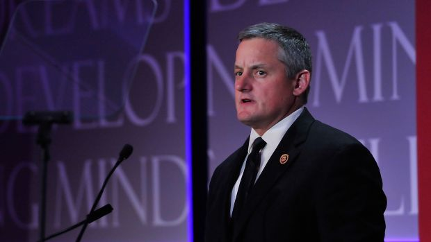 Bruce Westerman (R-Arkansas) speaks on stage at the Thurgood Marshall College Fund 27th Annual Awards Gala at the Washington Hilton on November 16th, 2015, in Washington, D.C.