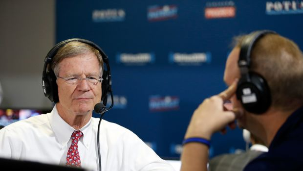 "Lamar Smith talks with Andrew Wilkow on ""The Wilkow Majority"" at Quicken Loans Arena on July 20th, 2016, in Cleveland, Ohio."