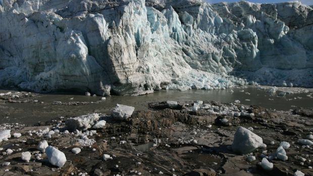 Scientists believe that Greenland, with its melting ice caps and disappearing glaciers, is an accurate thermometer of global warming.