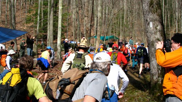 The start of the 2009 Barkley Marathons.