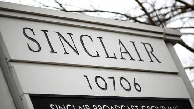 The headquarters of the Sinclair Broadcast Group in Hunt Valley, Maryland.