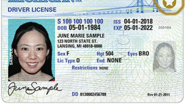 A sample driver's license for limited-term that is currently used by legal immigrants with temporary legal status.