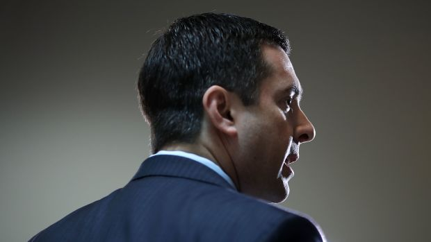 Representative Devin Nunes talks to reporters on February 27th, 2017, in Washington, D.C.