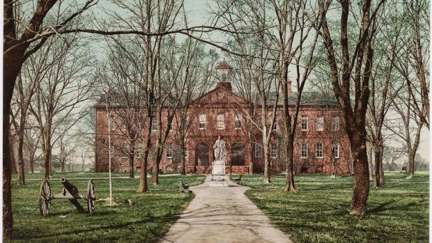 William and Mary College in Williamsburg, Virginia, circa 1902.