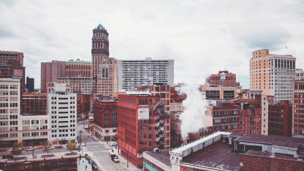 Downtown Detroit.