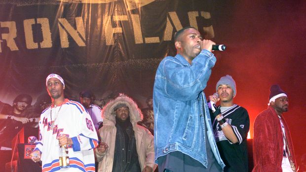 The Wu-Tang Clan performs during a party to celebrate the release of their new album Iron Flag at the Hammerstein Ballroom in New York City.