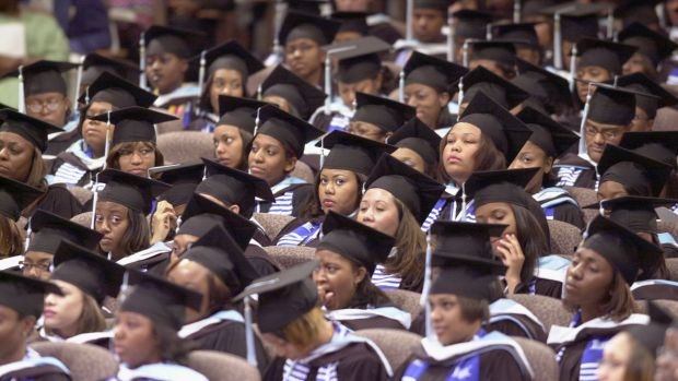 Graduates of Spelman College on May 19th, 2002, in Lithonia, GA.