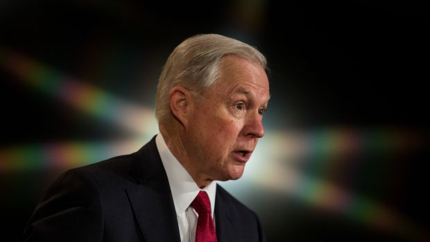 Attorney General Jeff Sessions, pictured here in February of 2017.