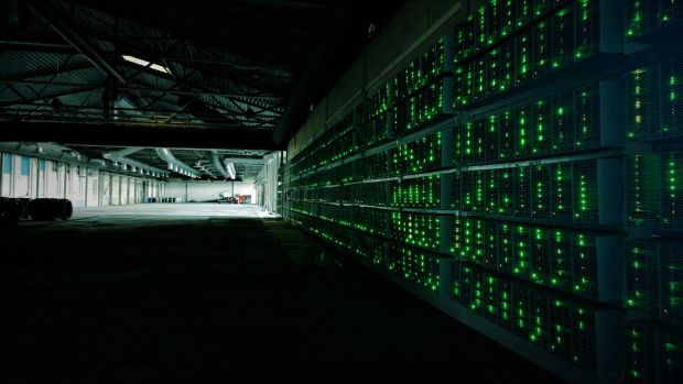 Bitcoin mining.