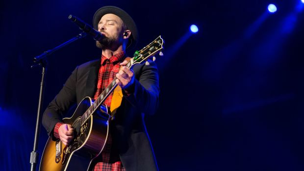 Justin Timberlake performs in Austin, Texas, on October 21st, 2017.