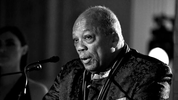 Quincy Jones speaks during Spotify's inaugural Secret Genius Awards.