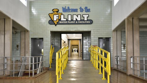 The interior of the Flint water plant is seen on September 14th, 2016, in Flint, Michigan.