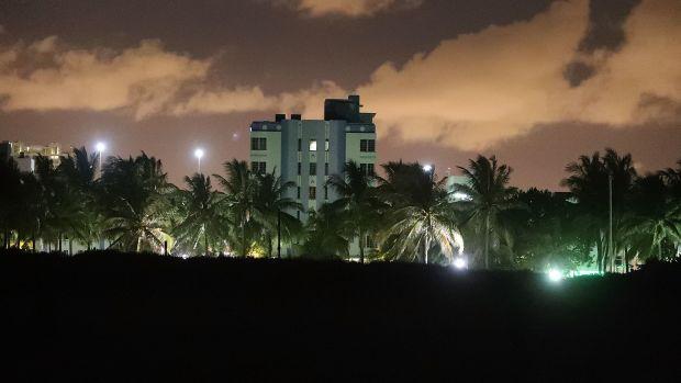 Part of the Miami Beach skyline.