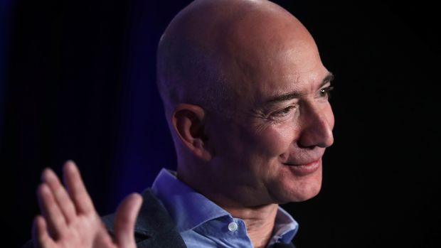 Jeff Bezos, founder and chief executive officer of Amazon.