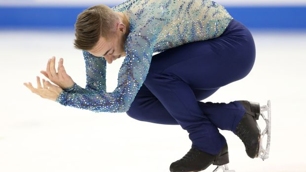 Adam Rippon competes in the Men's Free Skate during the 2018 Prudential U.S. Figure Skating Championships at the SAP Center on January 6, 2018, in San Jose, California.