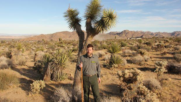Ken Layne in Joshua Tree, California.