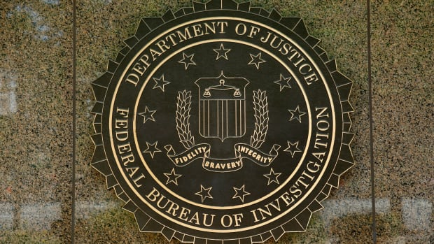 The Federal Bureau of Investigation seal is seen outside the FBI headquarters building in Washington, D.C.