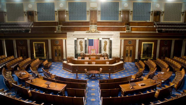The United States House of Representatives chamber.