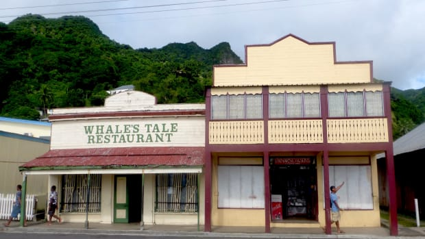 Main street on the waterfront in the town of Levuka.