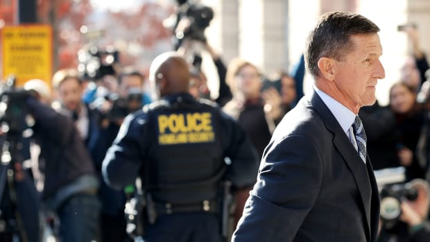 Michael Flynn, former national security adviser to President Donald Trump, arrives for his plea hearing at the Prettyman Federal Courthouse of December 1st, 2017, in Washington, D.C. Special Counsel Robert Mueller charged Flynn with one count of making a false statement to the FBI.
