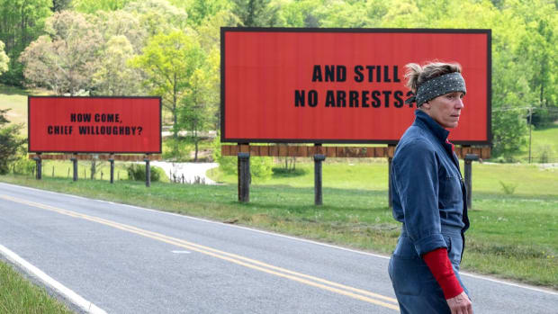 Frances McDormand in Martin McDonagh's Three Billboards Outside Ebbing, Missouri.