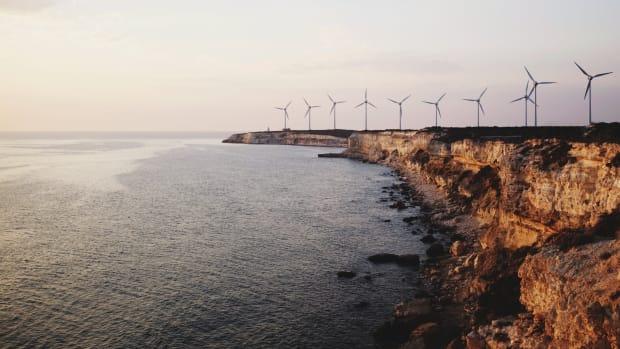 A wind farm near the town of Canakkale, in northwestern Turkey.