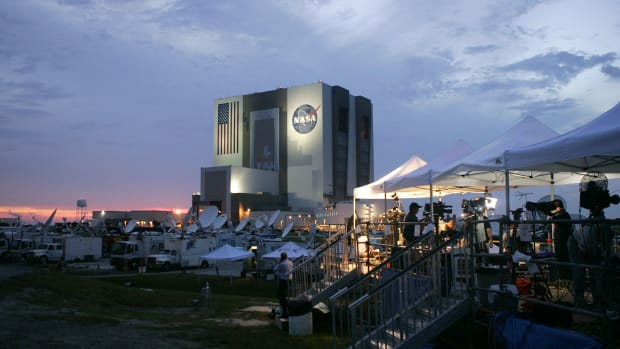 The Kennedy Space Center in Cape Canaveral, Florida.