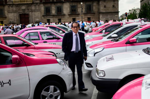 Viewfinder: Taxi Drivers Protest Against Uber in Mexico City
