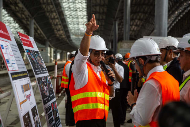 Viewfinder: The Thai Prime Minister Visits a Construction Site Ahead of Elections