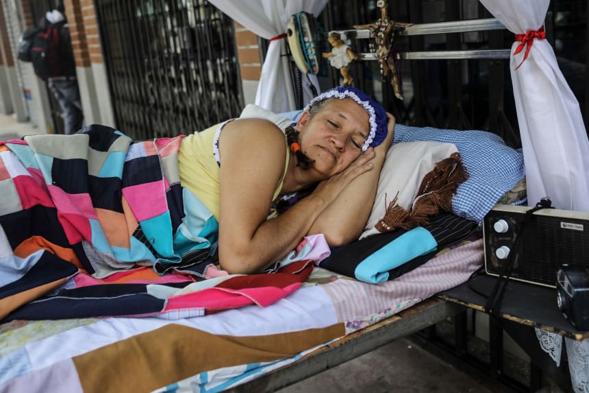itagui women A woman celebrates the world day of laziness in itagui, colombia, on august  20th, 2017.