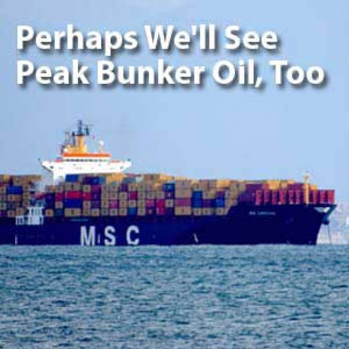 Even low-grade oil used to fuel cargo ships is likely to become precious in the age of peak oil. Click to read the story.